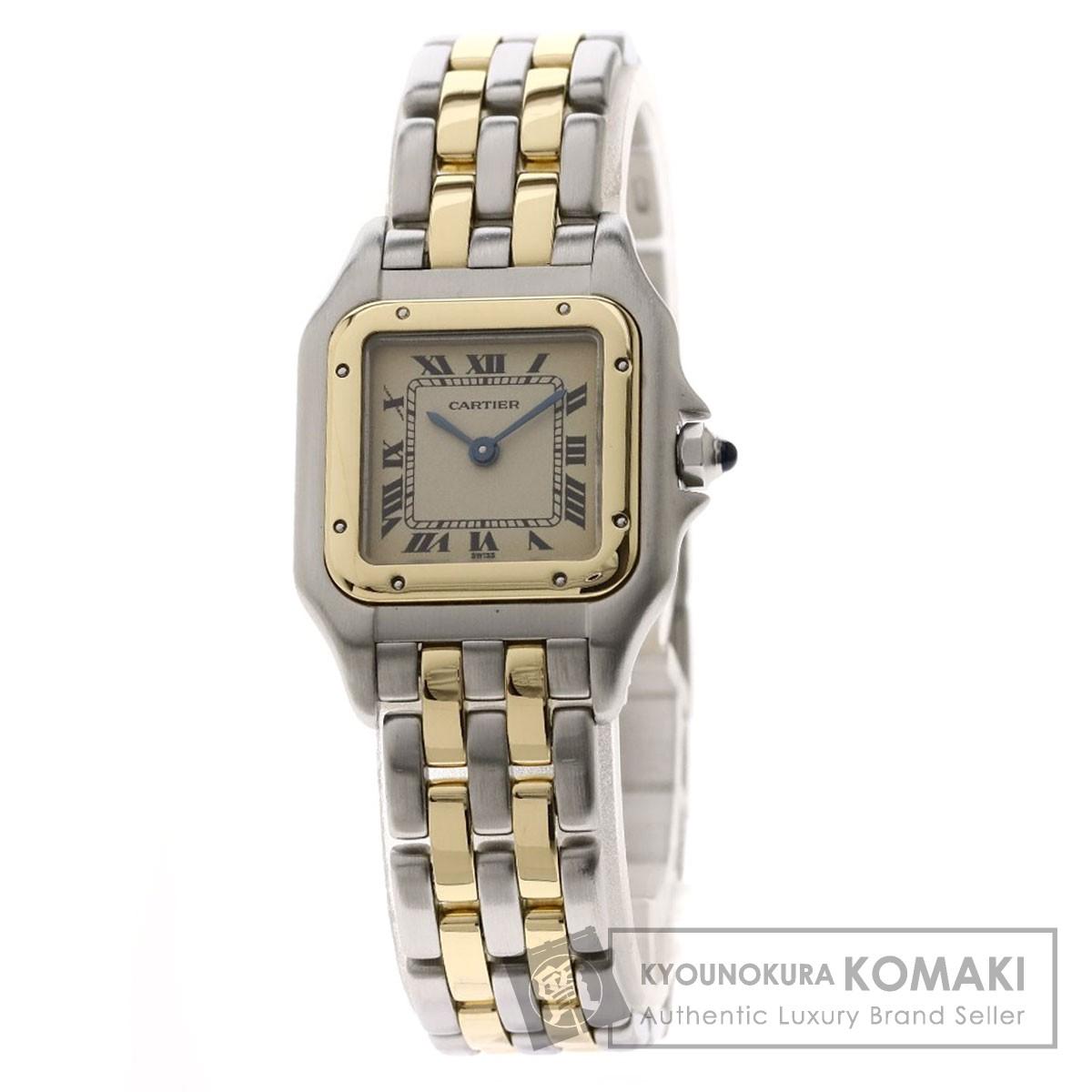 カルティエ 166921 パンテールSM 2ROW 腕時計 ステンレススチール/SSxK18YG/SSxK18YG レディース 【中古】【CARTIER】