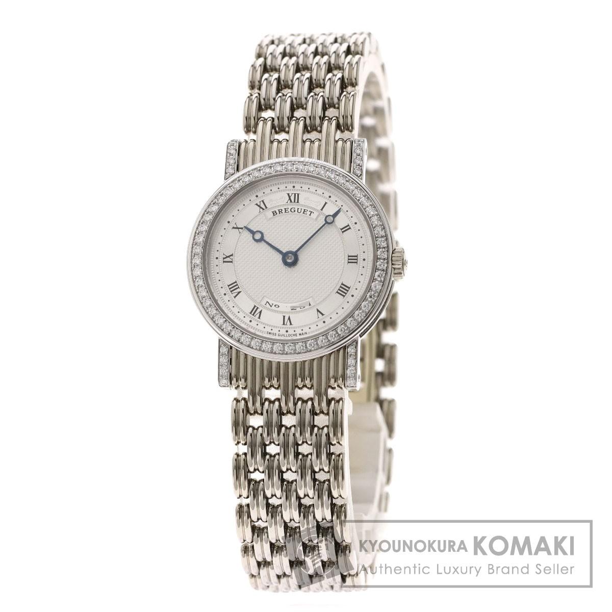 ブレゲ 8561BB/11/BAO クラシック ベゼルダイヤモンド 腕時計 OH済 K18ホワイトゴールド/K18WG/ダイヤモンド レディース 【中古】【Breguet】