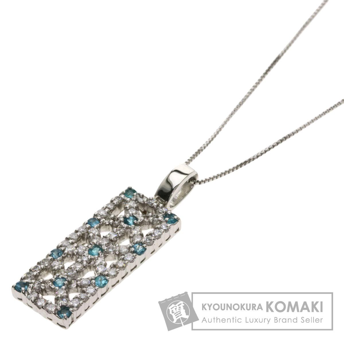 0.15ct トルマリン ダイヤモンド ネックレス プラチナPT900/PT850 5.9g レディース 【中古】