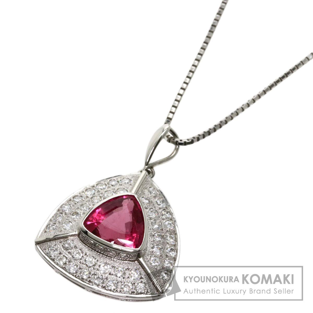 2.78ct ピンクトルマリン ダイヤモンド ネックレス プラチナPT900/PT850 11.2g レディース 【中古】