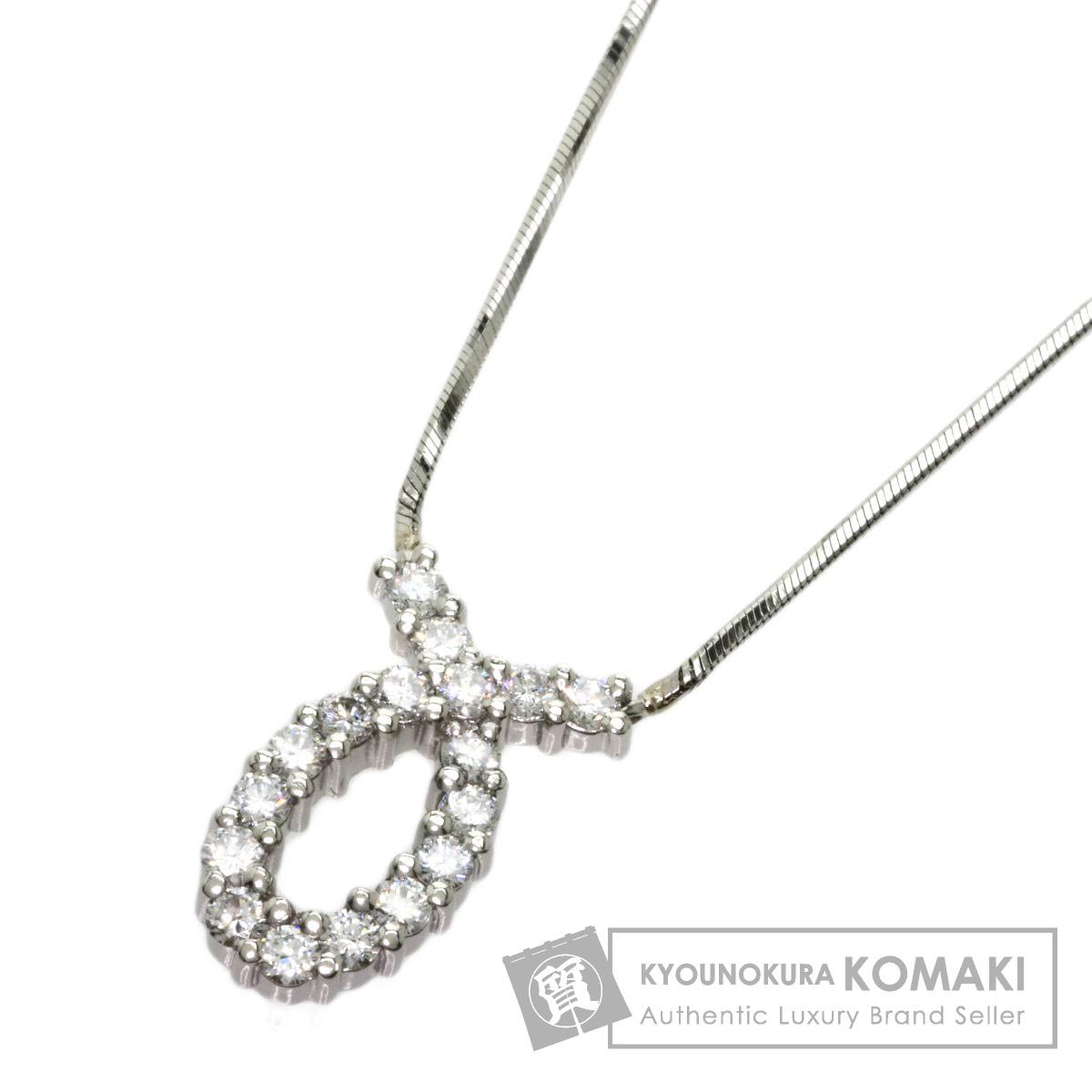 0.52ct ダイヤモンド ネックレス プラチナPT850 6.5g レディース 【中古】