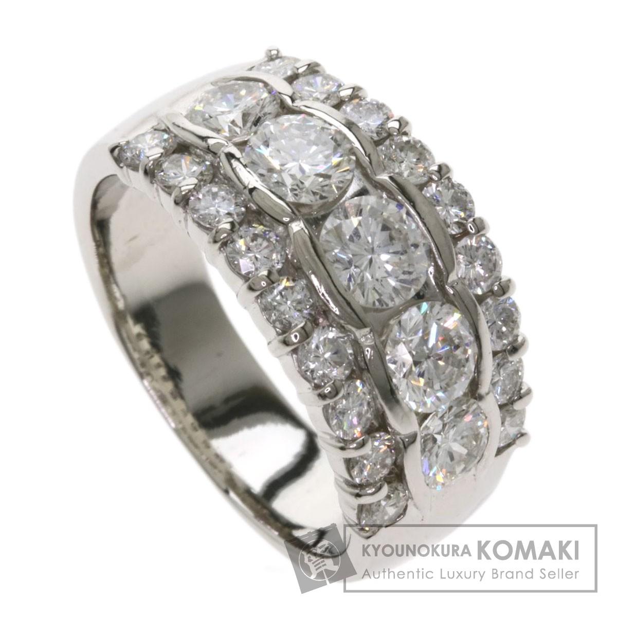 2.02ct ダイヤモンド リング・指輪 プラチナPT900 10.8g レディース 【中古】