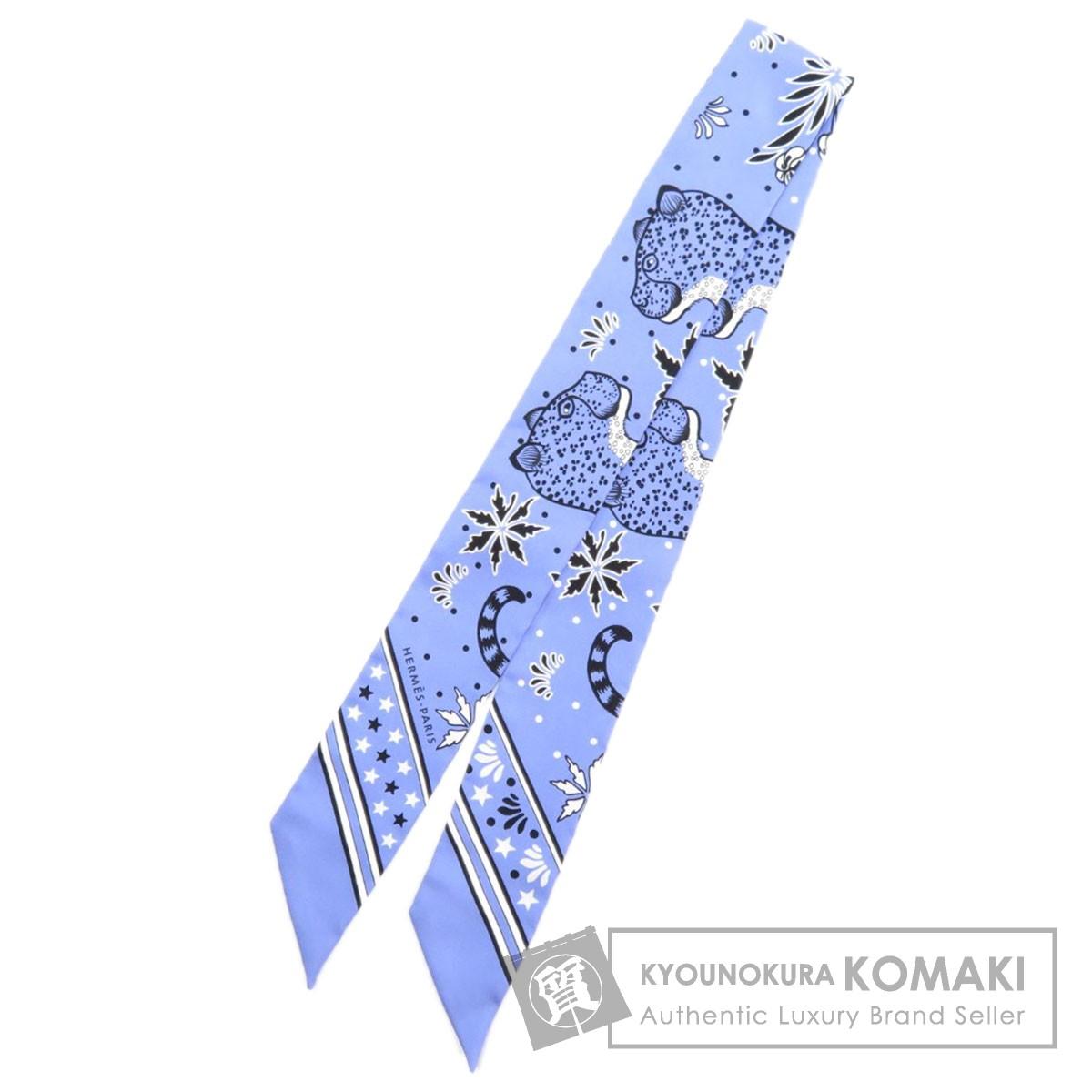 エルメス ツイリー LES LEOPARDS スカーフ シルク レディース 【中古】【HERMES】