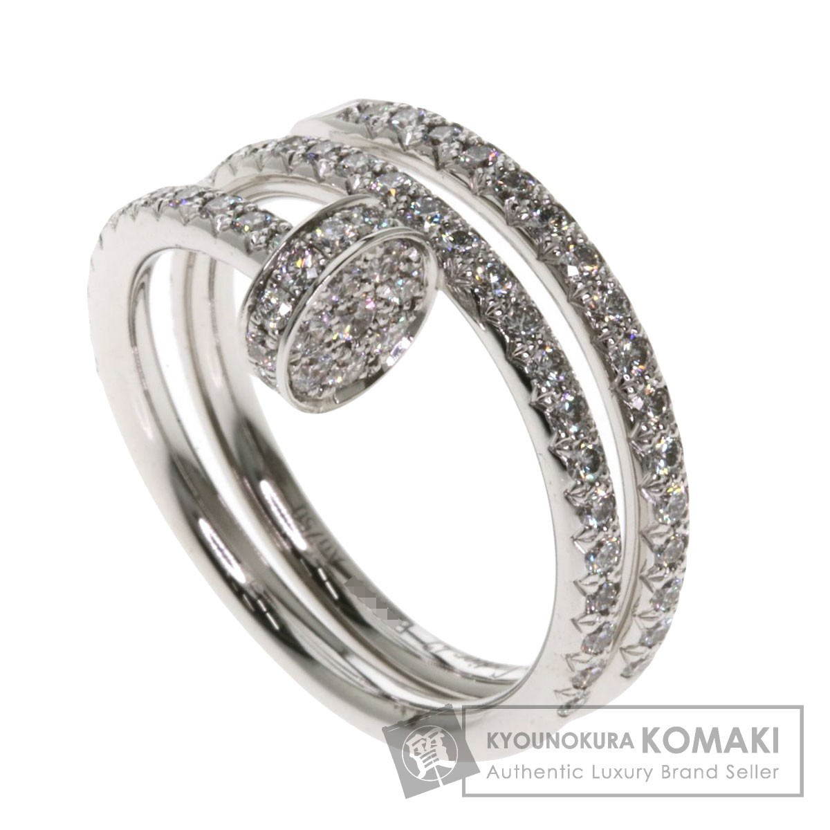 カルティエ ジュストアンクルリング ダイヤモンド #47 リング・指輪 K18ホワイトゴールド レディース 【中古】【CARTIER】