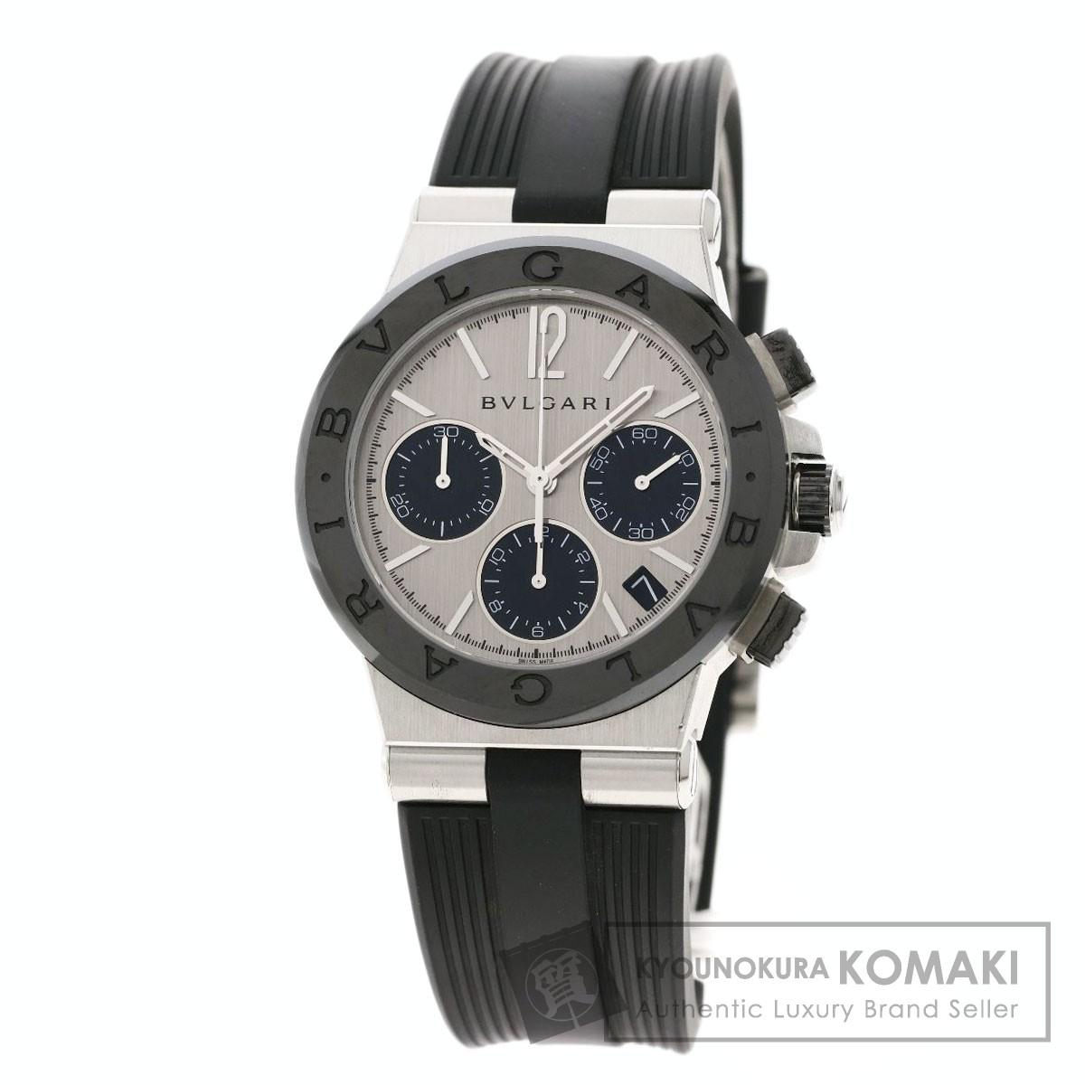 激安特価  ブルガリ DG37SCCH ディアゴノ 腕時計 ステンレススチール/ラバー/セラミック メンズ 【】【BVLGARI】, ルベシベチョウ 8252101e