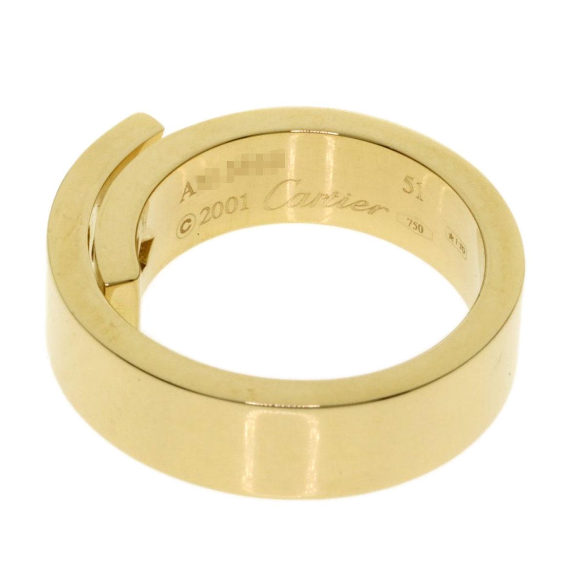 カルティエ アニバーサリーリング51 リング・指輪 K18イエローゴールド レディースCARTIERbfY76yg