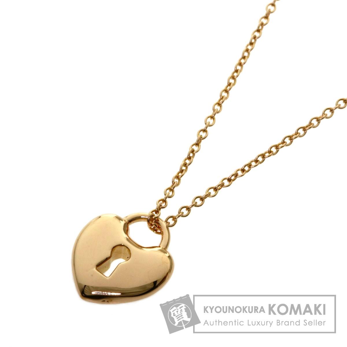 ティファニー ハートロック ネックレス K18ピンクゴールド レディース 【中古】【TIFFANY&Co.】
