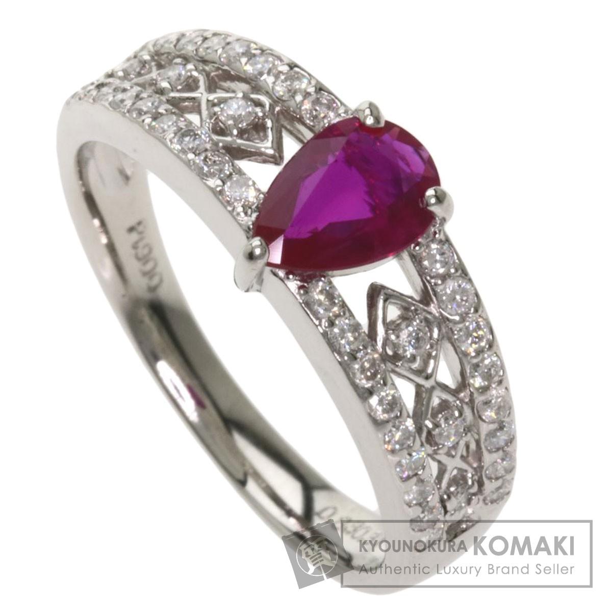 0.83ct ルビー ダイヤモンド リング・指輪 プラチナPT900 4.7g レディース 【中古】