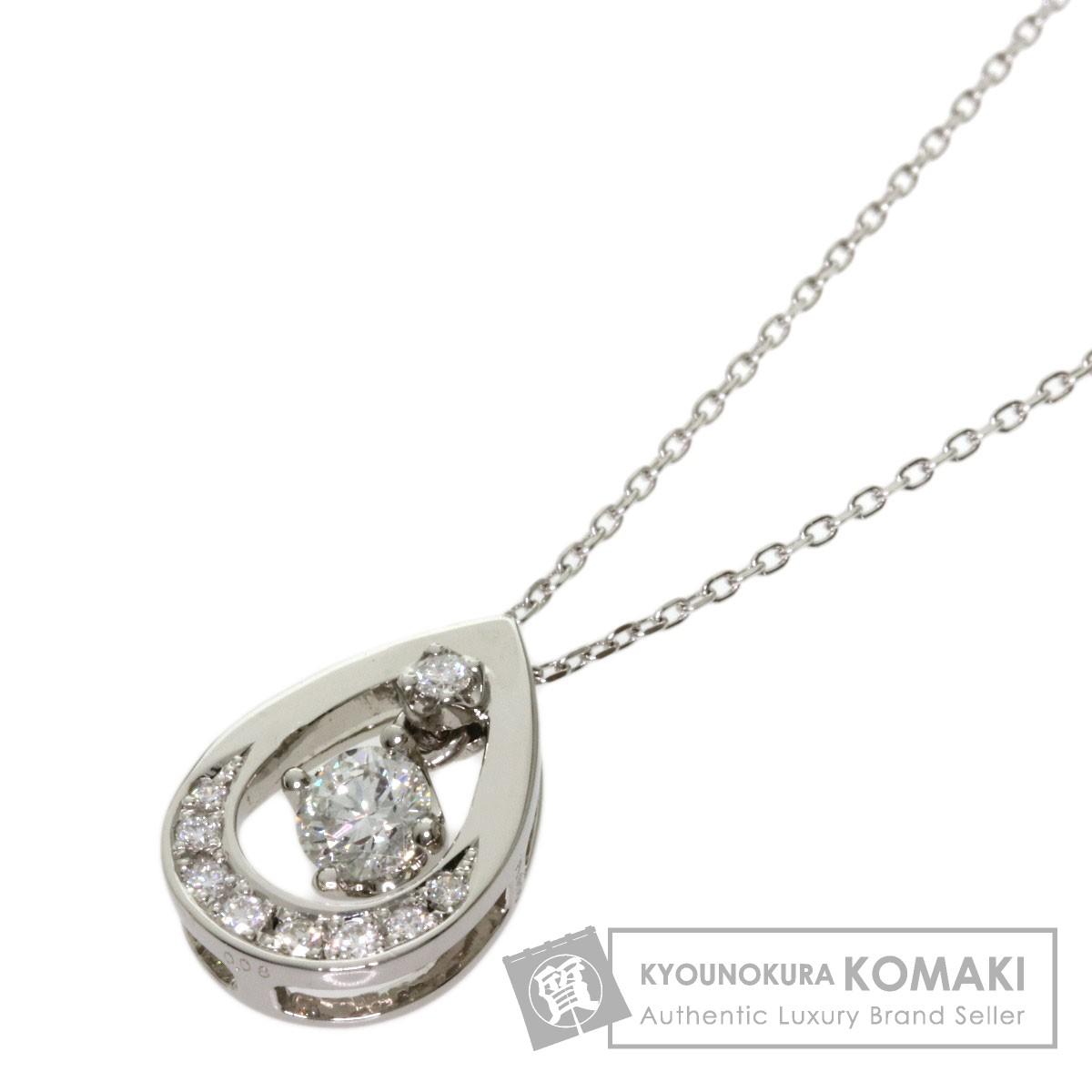 0.234ct ダイヤモンド ネックレス プラチナPT850/PT900 3.5g レディース 【中古】