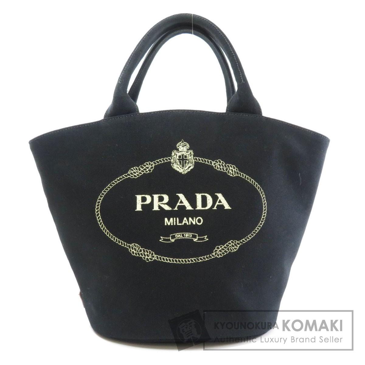 プラダ カナパ バケツ型 トートバッグ キャンバス レディース 【中古】【PRADA】