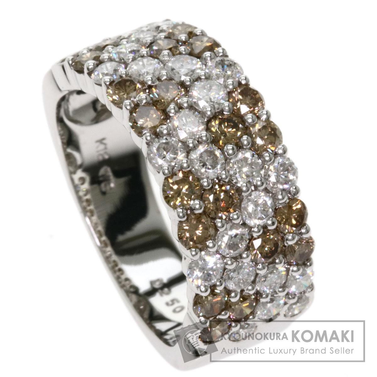 2.5ct ダイヤモンド リング・指輪 K18ホワイトゴールド 9.2g レディース 【中古】