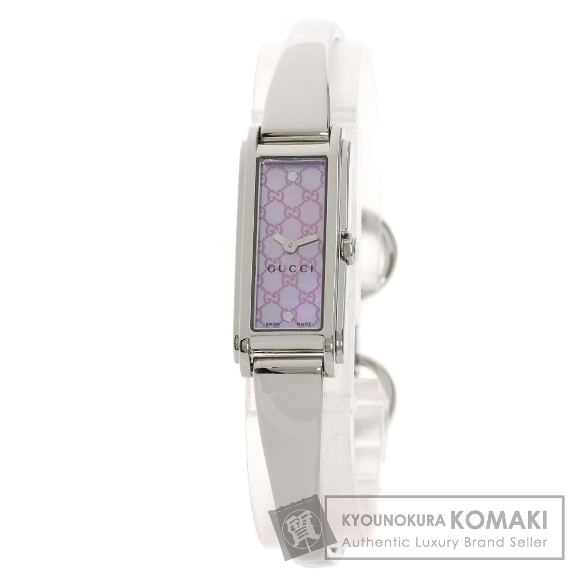 グッチ 109 YA109529 GG スクエアフェイス 腕時計 ステンレススチール/SS レディース 【中古】【GUCCI】