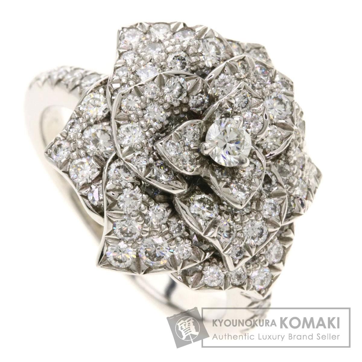 ピアジェ ローズリング #51 リング・指輪 K18ホワイトゴールド レディース 【中古】【PIAGET】