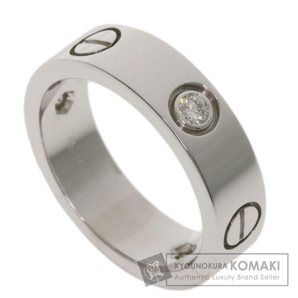 カルティエ ラブリング ハーフダイヤモンド #53 リング・指輪 K18ホワイトゴールド レディース 【中古】【CARTIER】