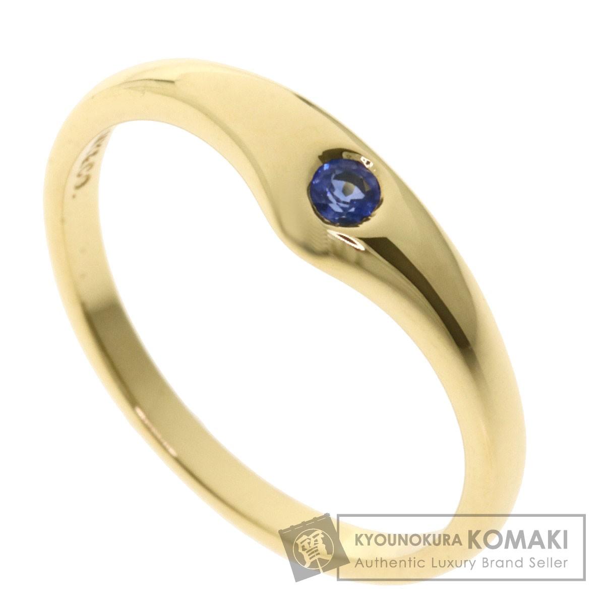 ティファニー 1P サファイア リング・指輪 K18イエローゴールド レディース 【中古】【TIFFANY&Co.】