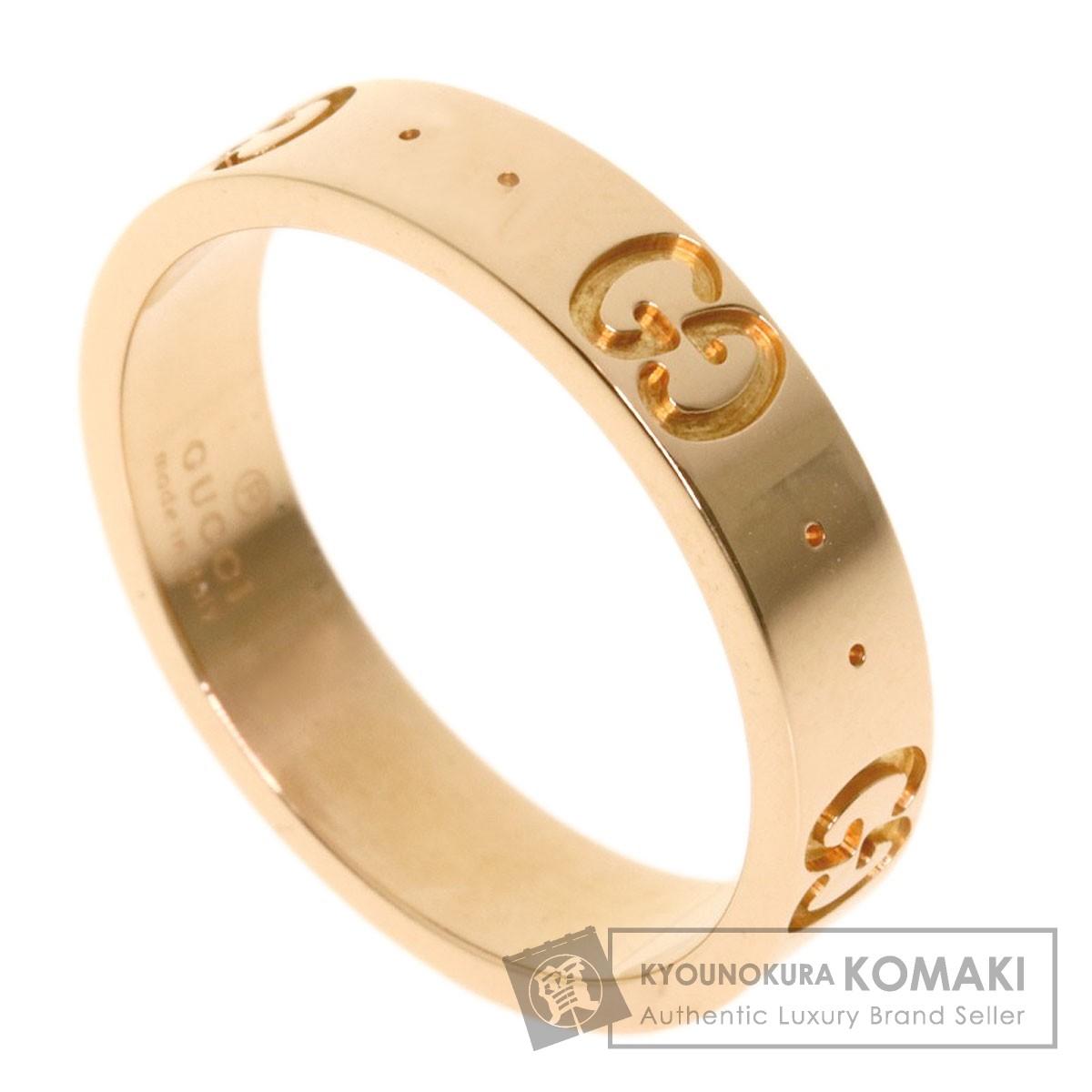 グッチ アイコン #10 リング・指輪 K18ピンクゴールド レディース 【中古】【GUCCI】