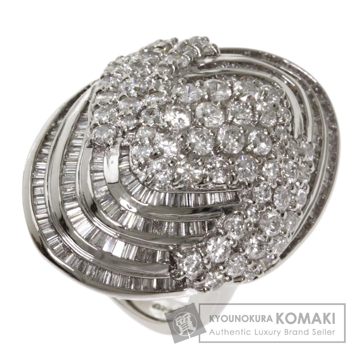 5ct ダイヤモンド リング・指輪 プラチナPT900 26.7g レディース 【中古】