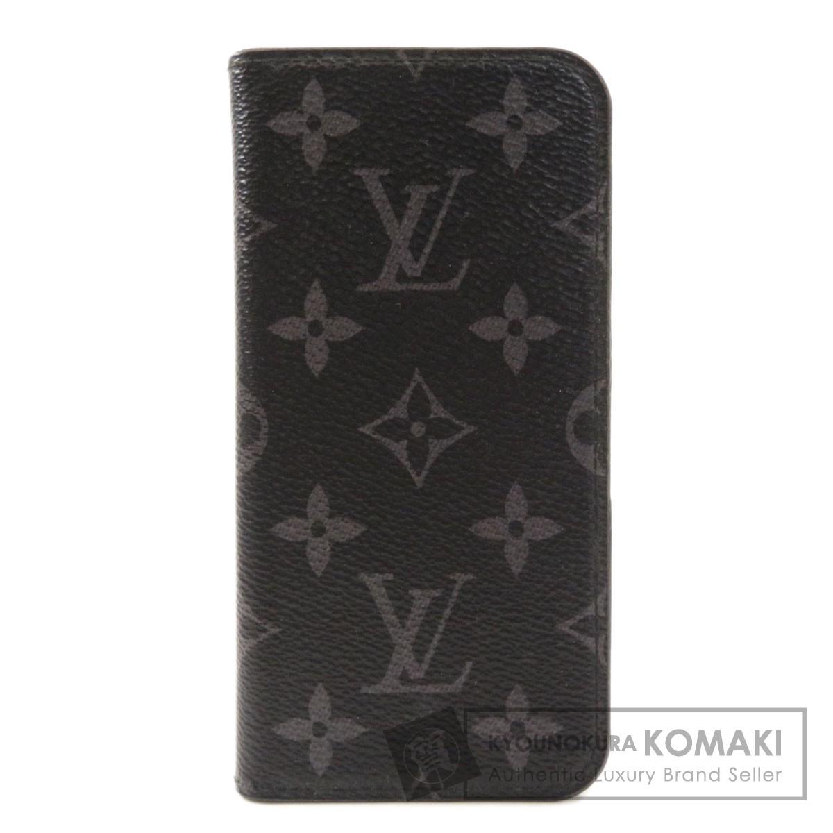 新品■送料無料■ ルイヴィトン M63446 フォリオ iPhone X 安心の定価販売 モノグラム エクリプス メンズ モノグラムエクリプス 中古 iPhoneケース LOUIS VUITTON