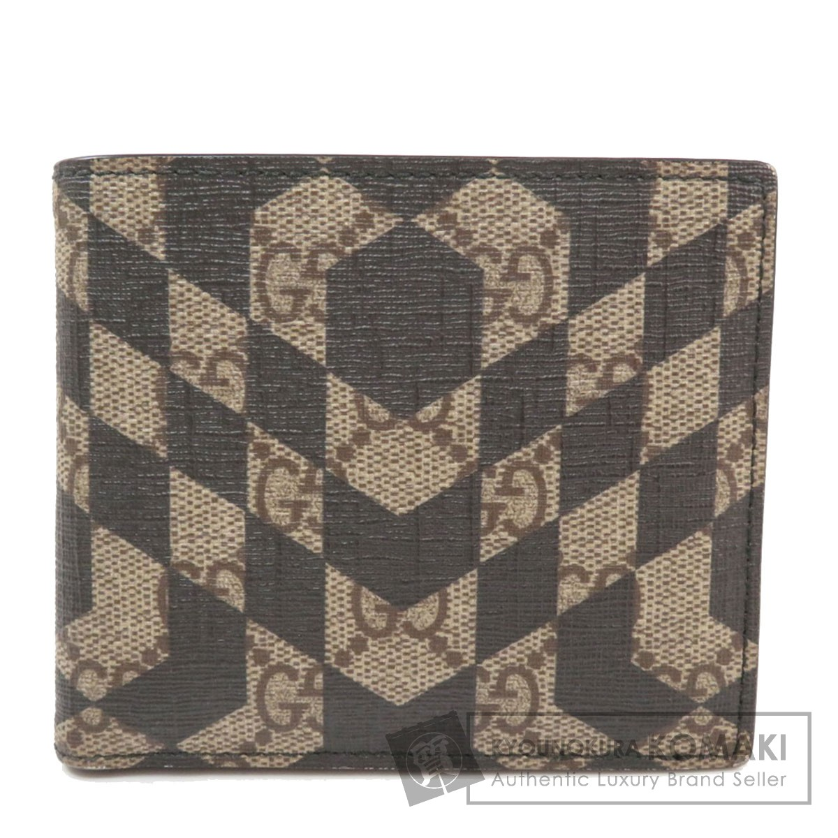 グッチ 406558 GGスプリーム 二つ折り財布(小銭入れあり) PVC メンズ 【中古】【GUCCI】