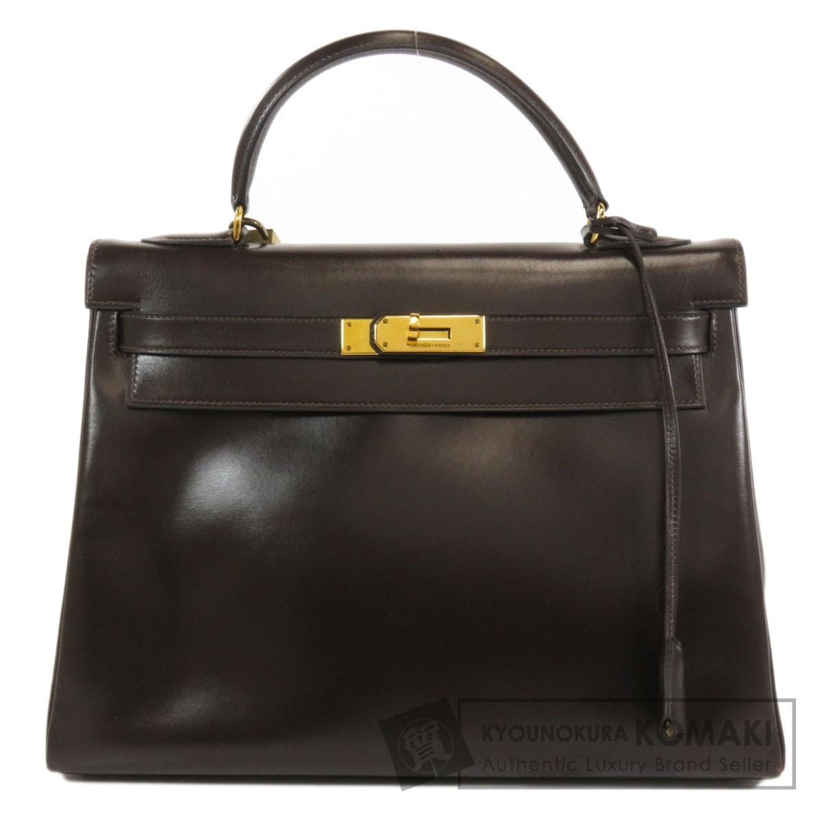 エルメス ケリー32 人気 おすすめ ゴールド金具 ハンドバッグ 中古 レビューを書けば送料当店負担 ボックスカーフ レディース HERMES