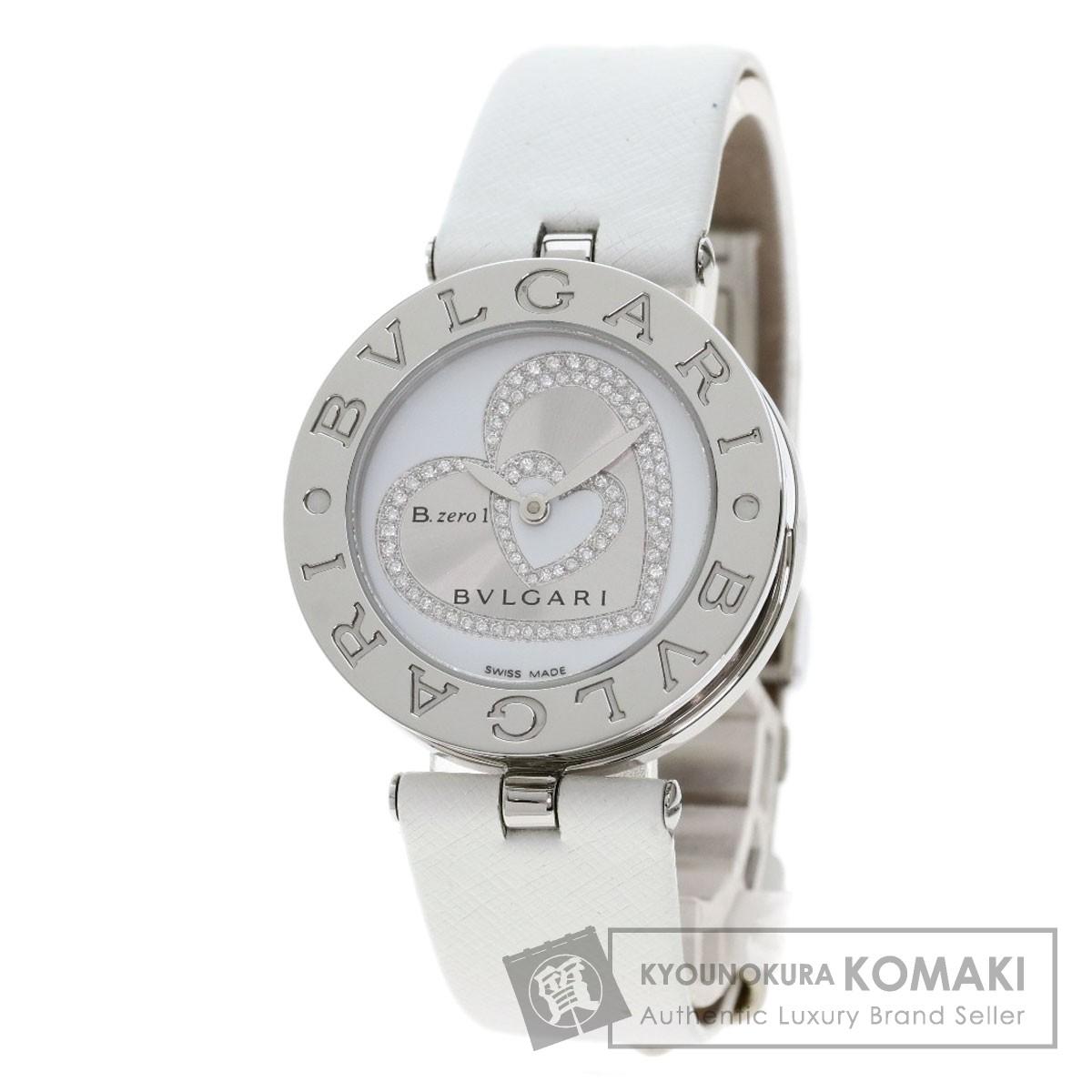 ブルガリ BZ30S B-zero1 ダイヤモンド ハート 腕時計 ステンレススチール/革 レディース 【中古】【BVLGARI】