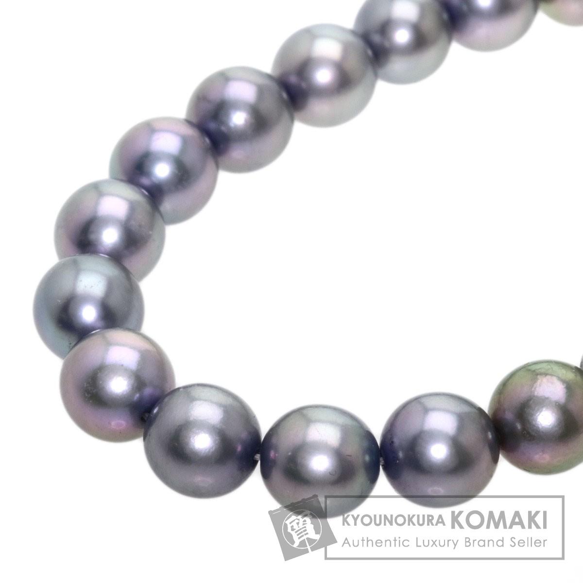 アコヤグレーパール 真珠 ネックレス シルバー 62.6g レディース 【中古】