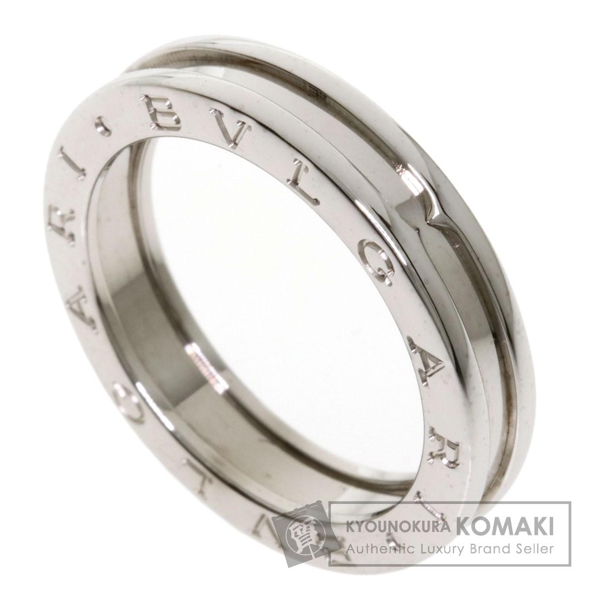 ブルガリ B-zero1 XS #60 リング・指輪 K18ホワイトゴールド メンズ 【中古】【BVLGARI】