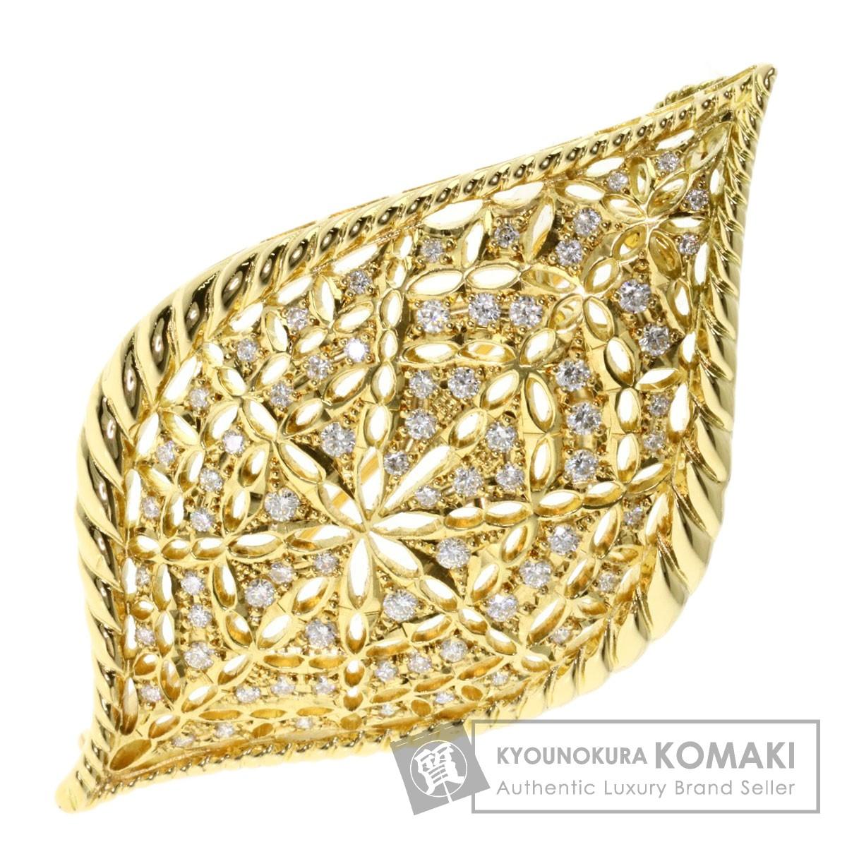 1.01ct ダイヤモンド ブローチ K18イエローゴールド 19.2g レディース 【中古】