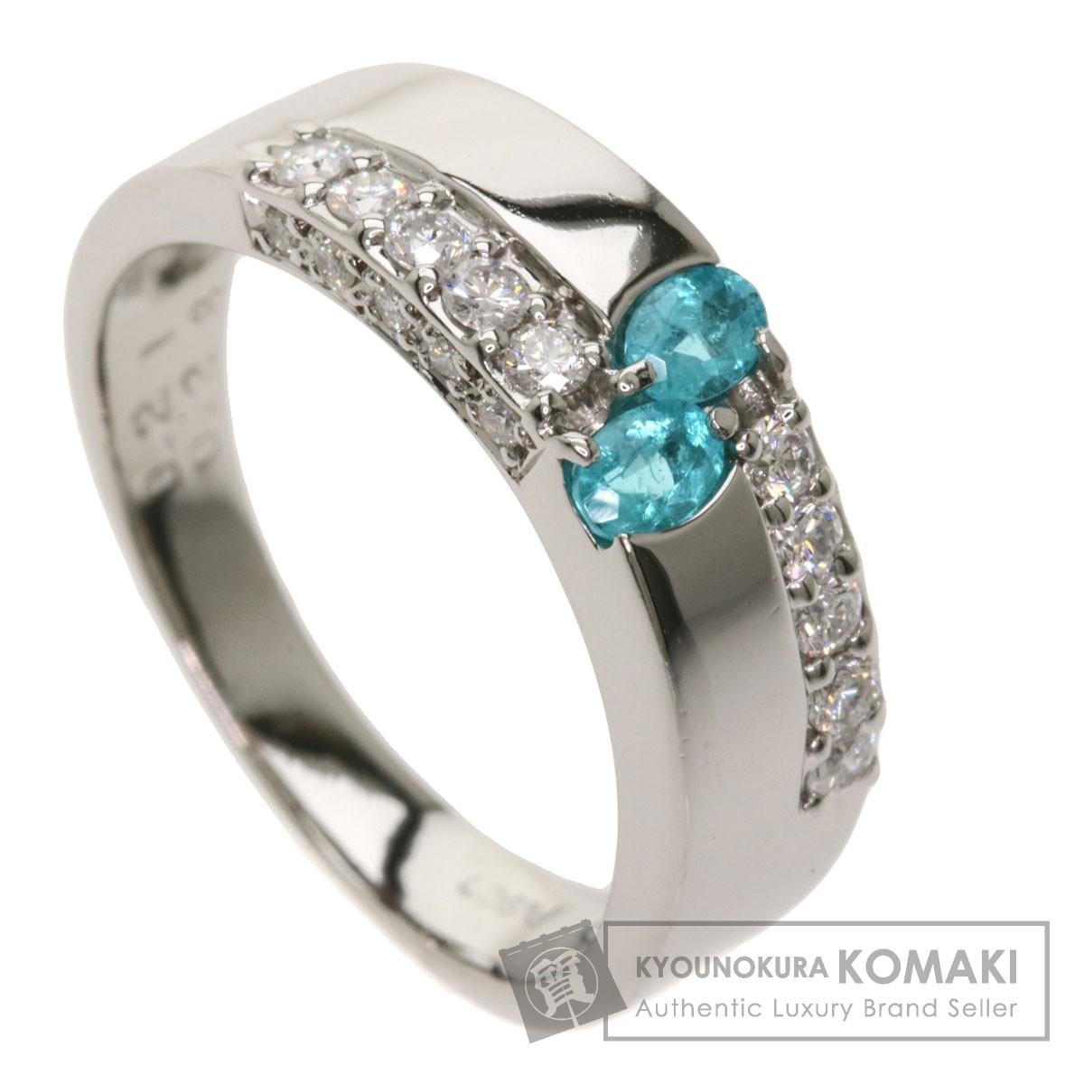 0.21ct パライバトルマリン ダイヤモンド リング・指輪 プラチナPT900 5.8g レディース 【中古】