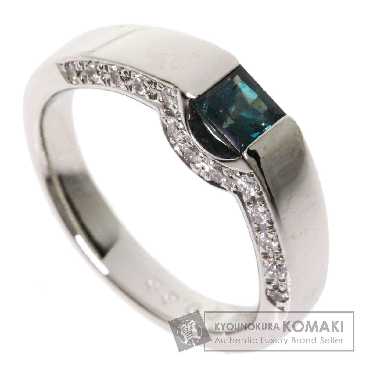 0.38ct アレキサンドライト ダイヤモンド リング・指輪 プラチナPT900 8.1g レディース 【中古】