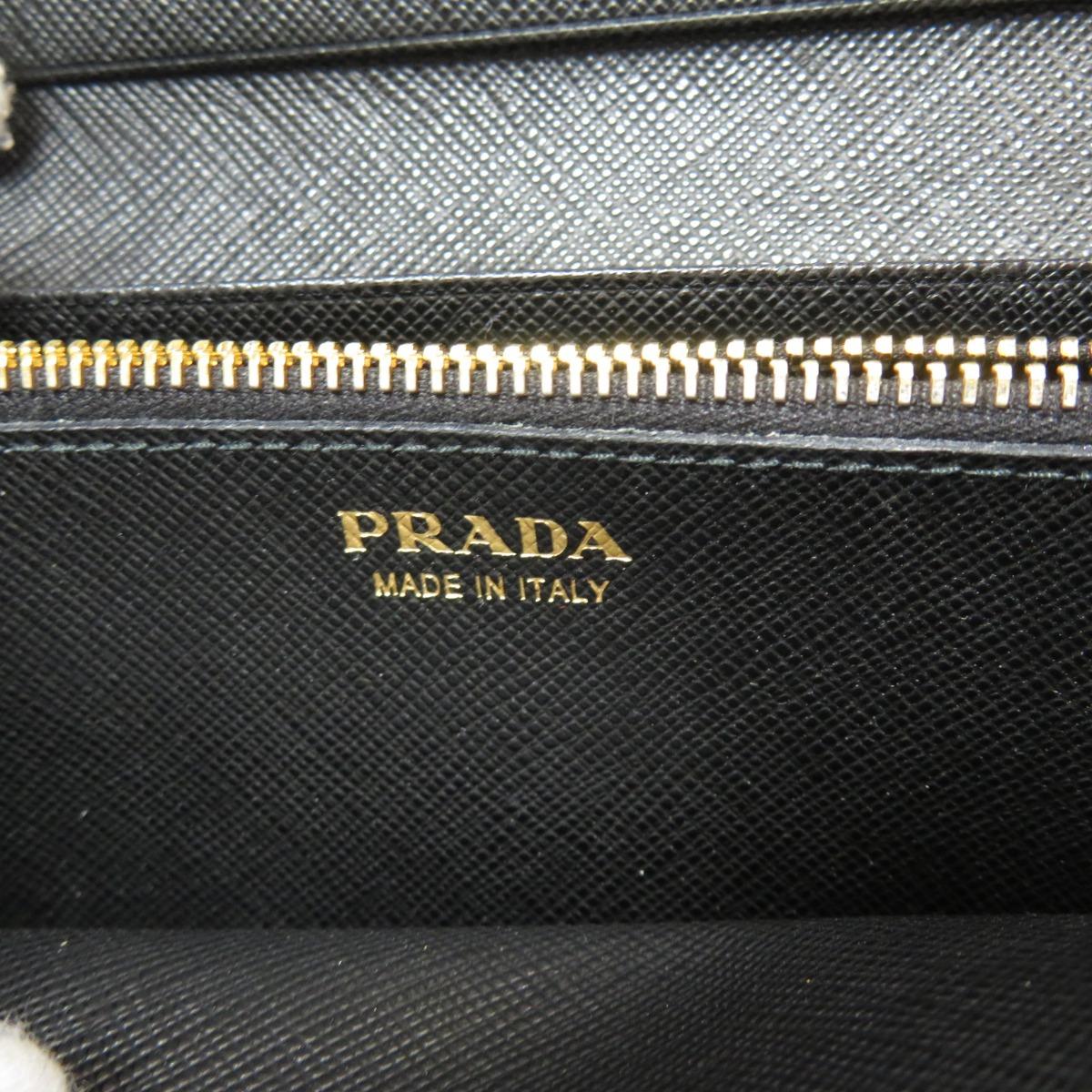 プラダ 1MH132 リボンモチーフ サフィアーノ 長財布 小銭入れありレザー レディースPRADAdxoeCB