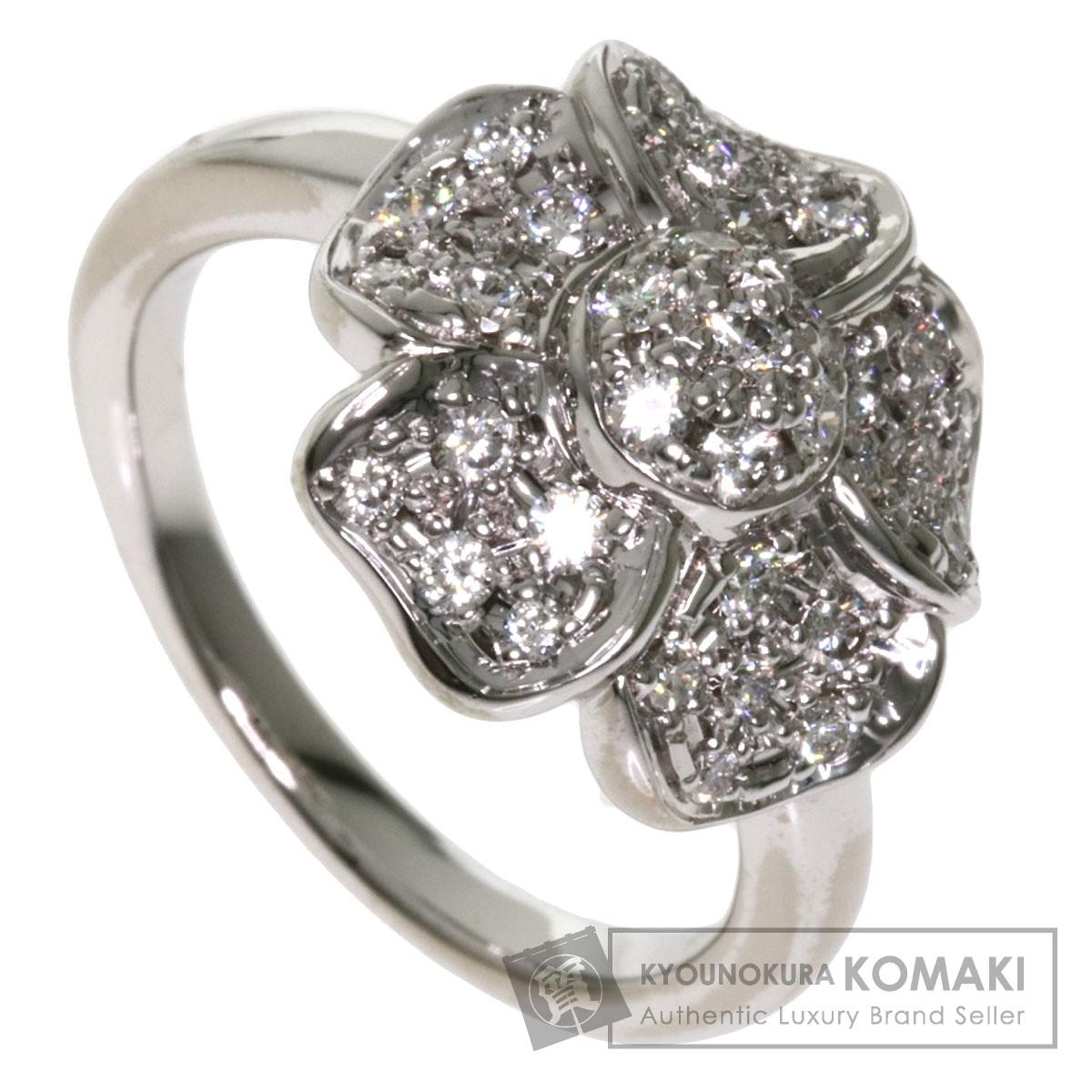 0.57ct ダイヤモンド リング・指輪 K18ホワイトゴールド 8g レディース 【中古】