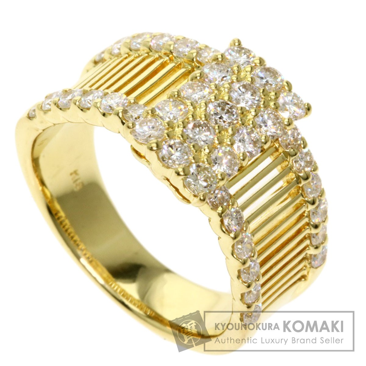 1ct ダイヤモンド リング・指輪 K18イエローゴールド 7.9g レディース 【中古】