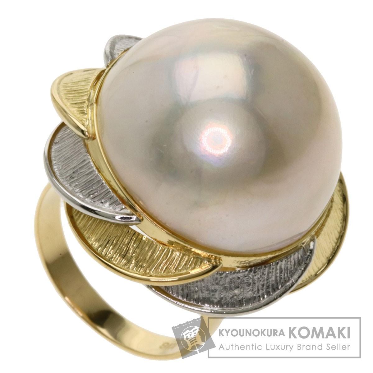 マベパール 真珠 リング・指輪 K18イエローゴールド/PT900 12g レディース 【中古】