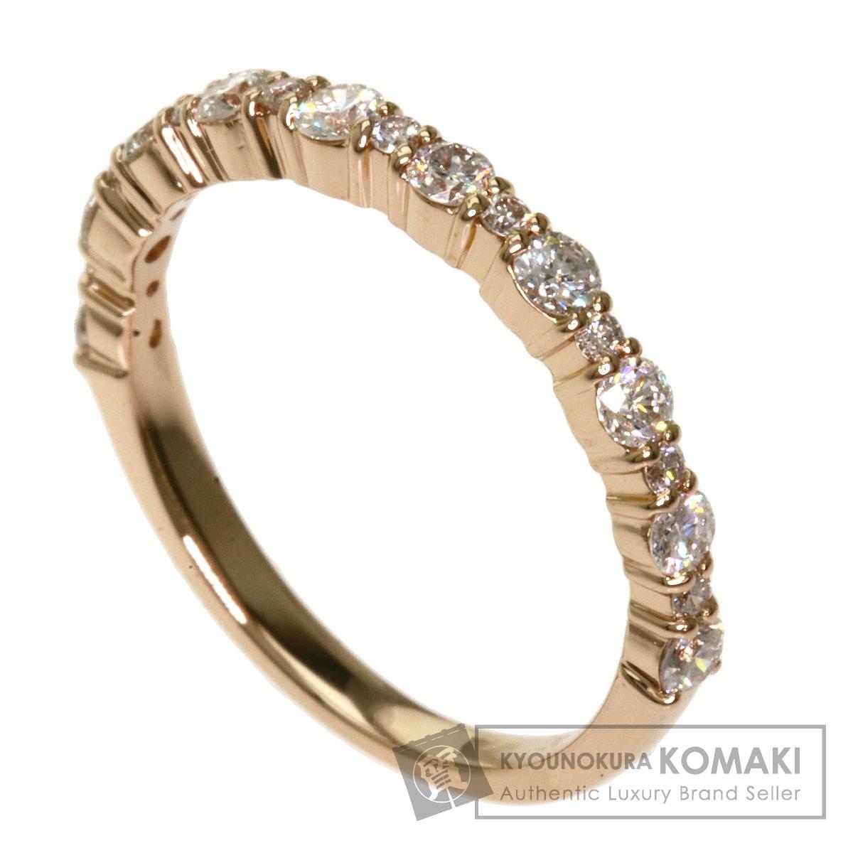 0.4ct ダイヤモンド リング・指輪 K18ピンクゴールド 1.6g レディース 【中古】
