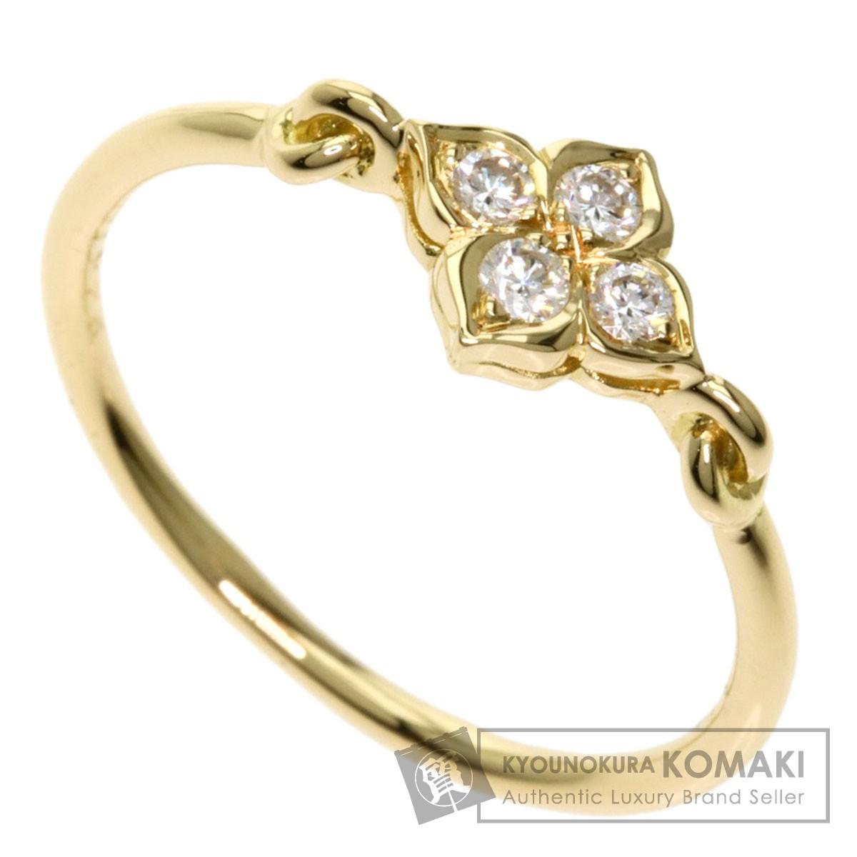 カルティエ ヒンドゥ リング ダイヤモンド #55 リング・指輪 K18イエローゴールド レディース 【中古】【CARTIER】