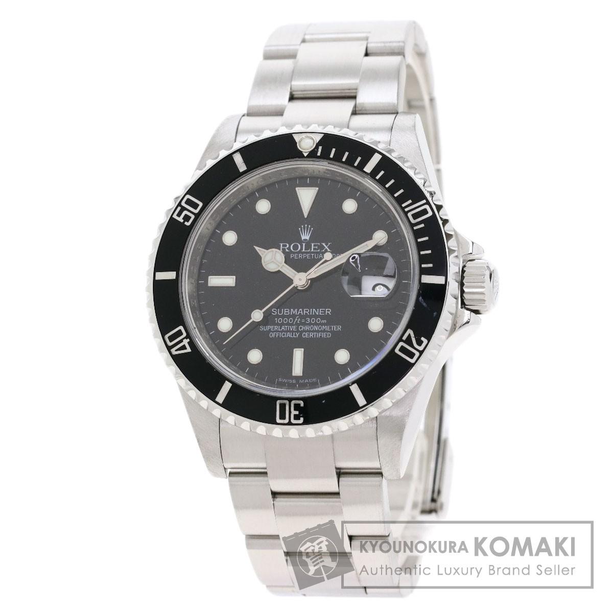 ロレックス 16610 サブマリーナ デイト 腕時計 OH済 ステンレススチール/SS メンズ 【中古】【ROLEX】