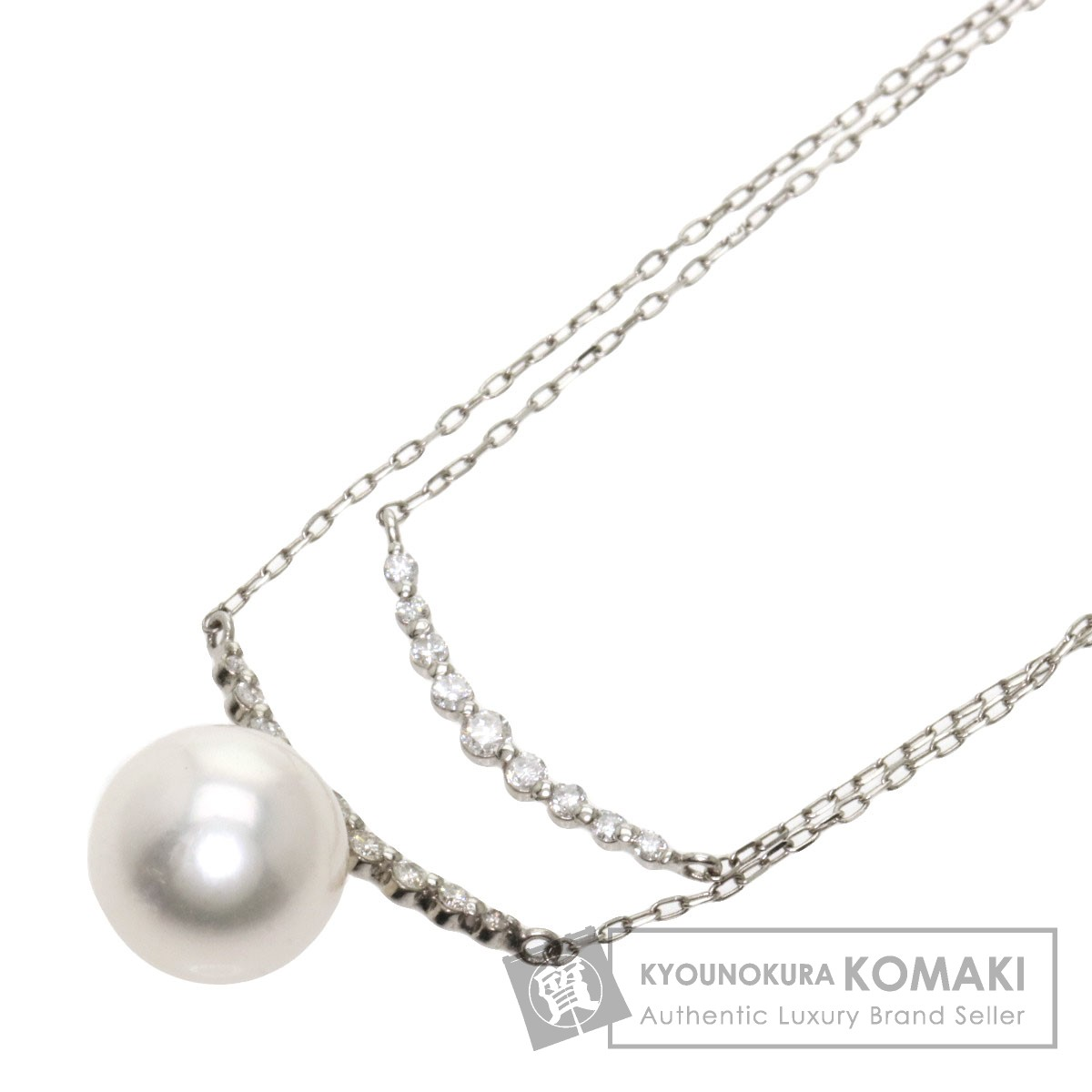 アコヤパール 真珠 ダイヤモンド ネックレス プラチナPT900/PT850 レディース 【中古】