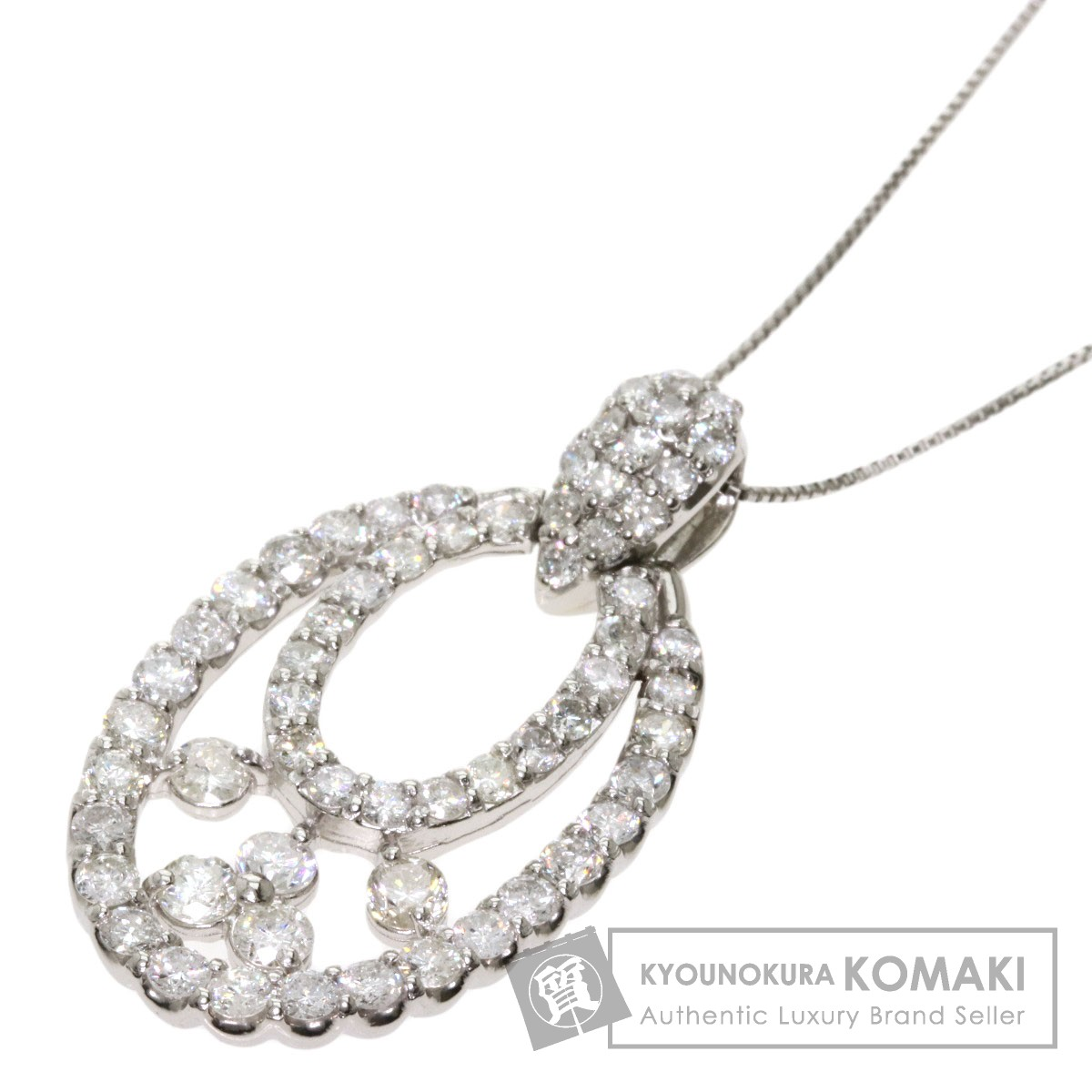 ダイヤモンド ネックレス プラチナPT900/PT850 レディース 【中古】