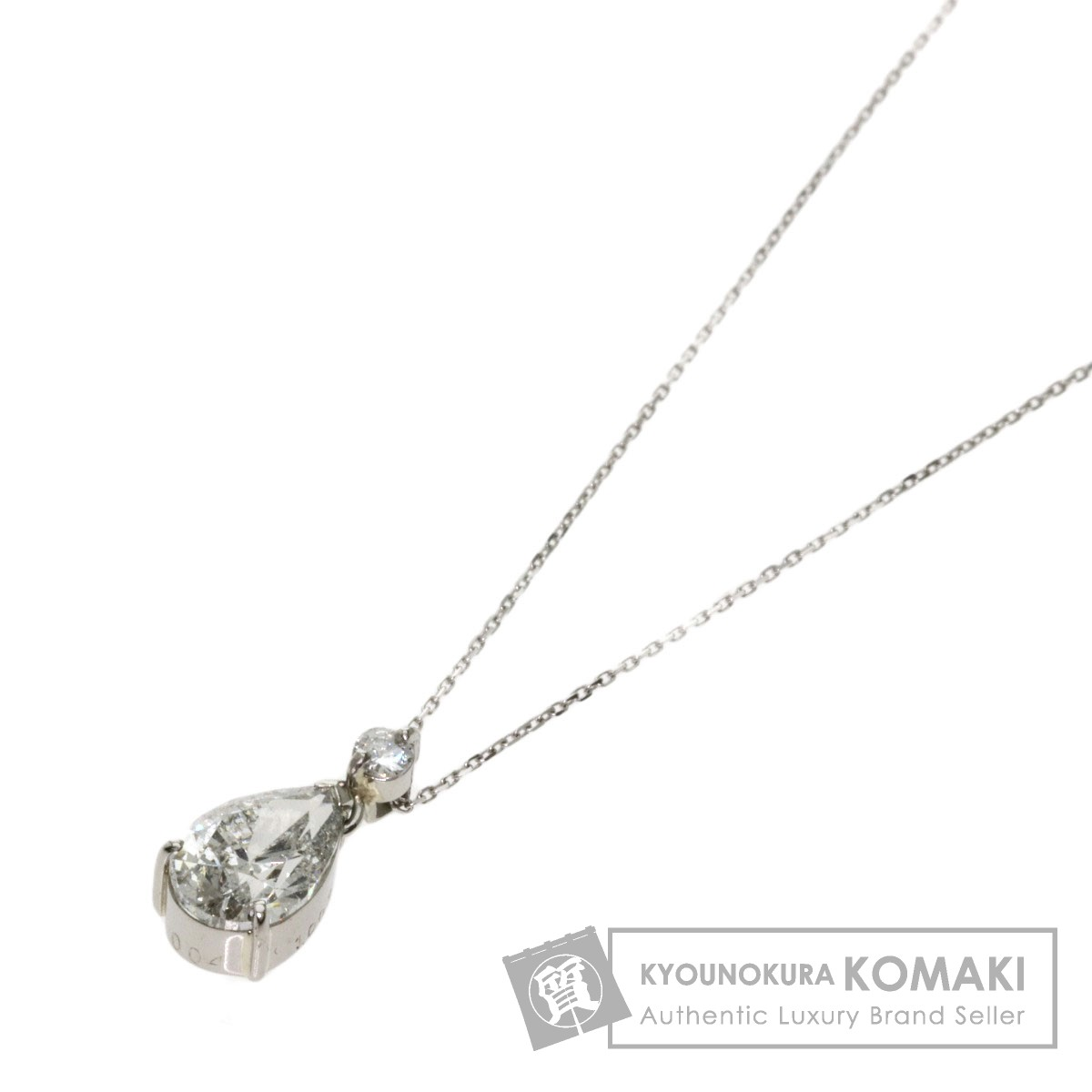 ダイヤモンド ネックレス プラチナPT900/K18WG レディース 【中古】