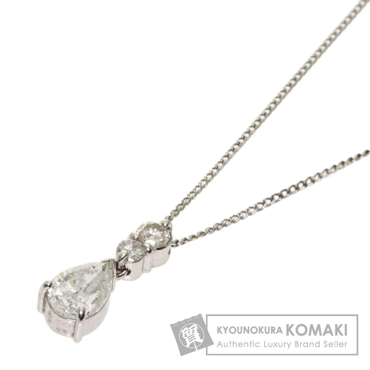 ダイヤモンド ネックレス プラチナPT1000 レディース 【中古】