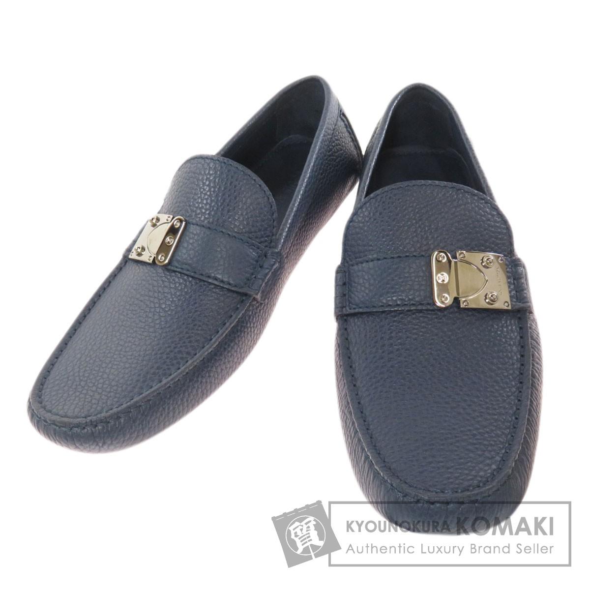 LOUIS VUITTON ルイヴィトン ドライビングシューズ 人気の製品 靴 高額クーポン配布中 2 期間限定お試し価格 木 メンズ レザー 中古 9:59迄 18