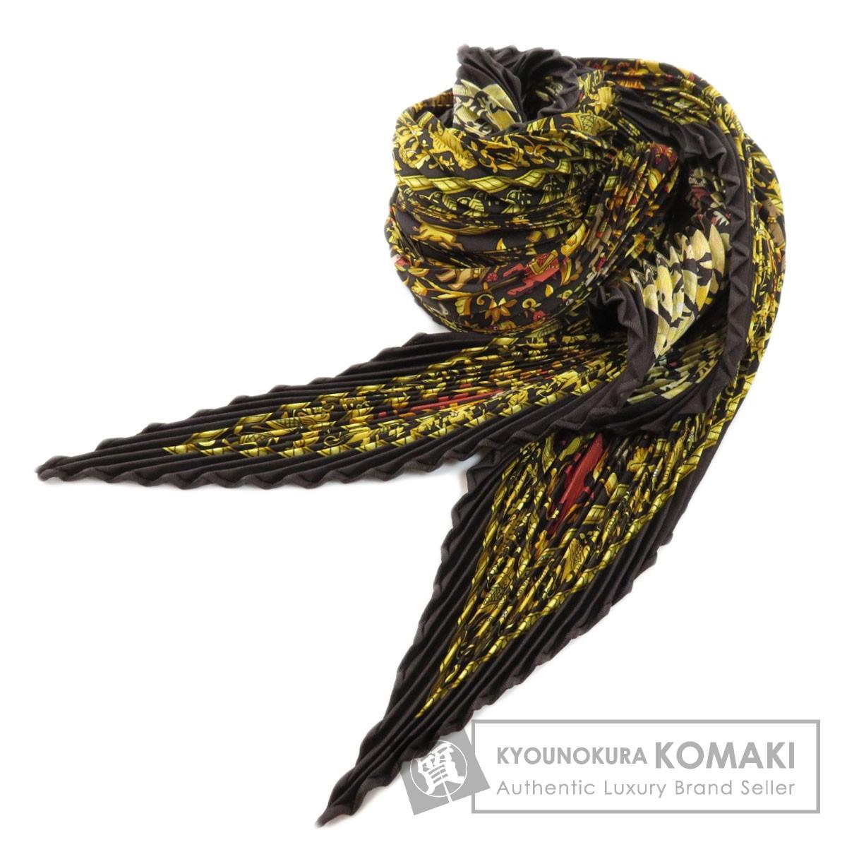 エルメス プリーツスカーフ インドの狩猟 スカーフ シルク レディース 【中古】【HERMES】