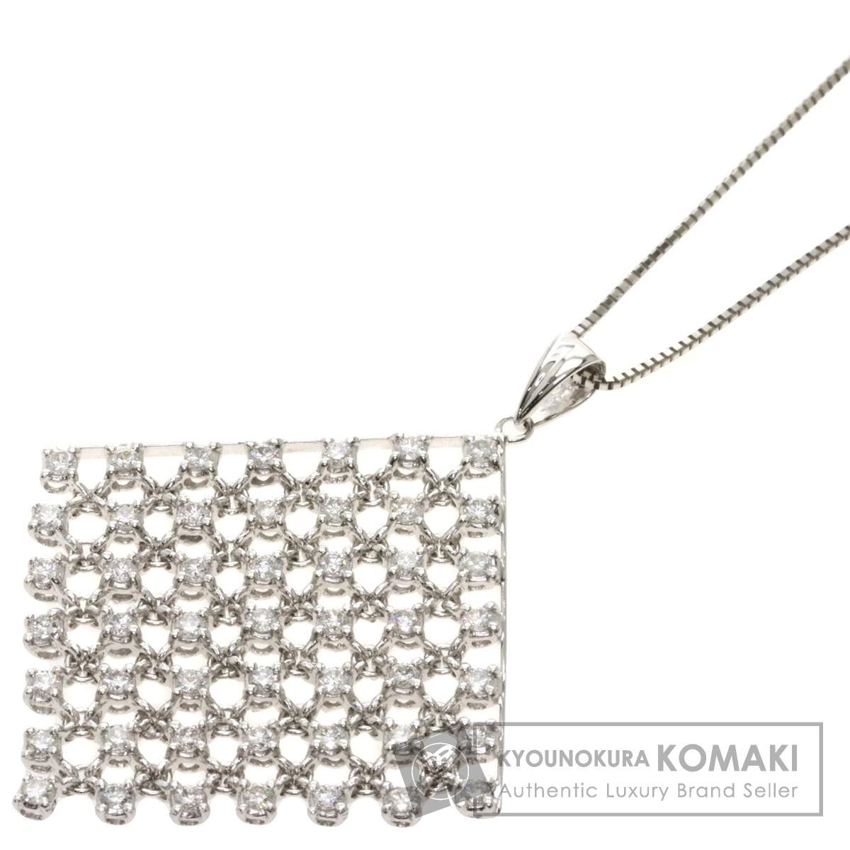 ダイヤモンド ネックレス K18ホワイトゴールド 7.3g レディース 【中古】