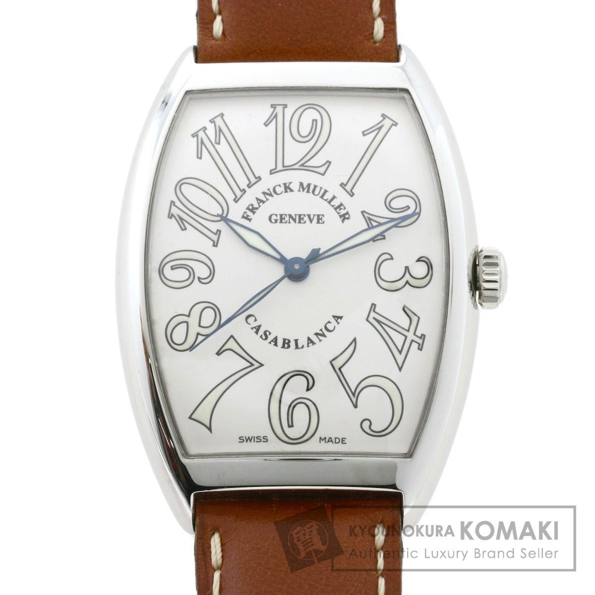 初回限定 FRANCK MULLER フランクミュラー 6850 カサブランカ 腕時計 当店限定ポイント5倍 高額クーポン配布中 価格交渉OK送料無料 18 中古 8 メンズ 革 09:59迄 水 ステンレススチール
