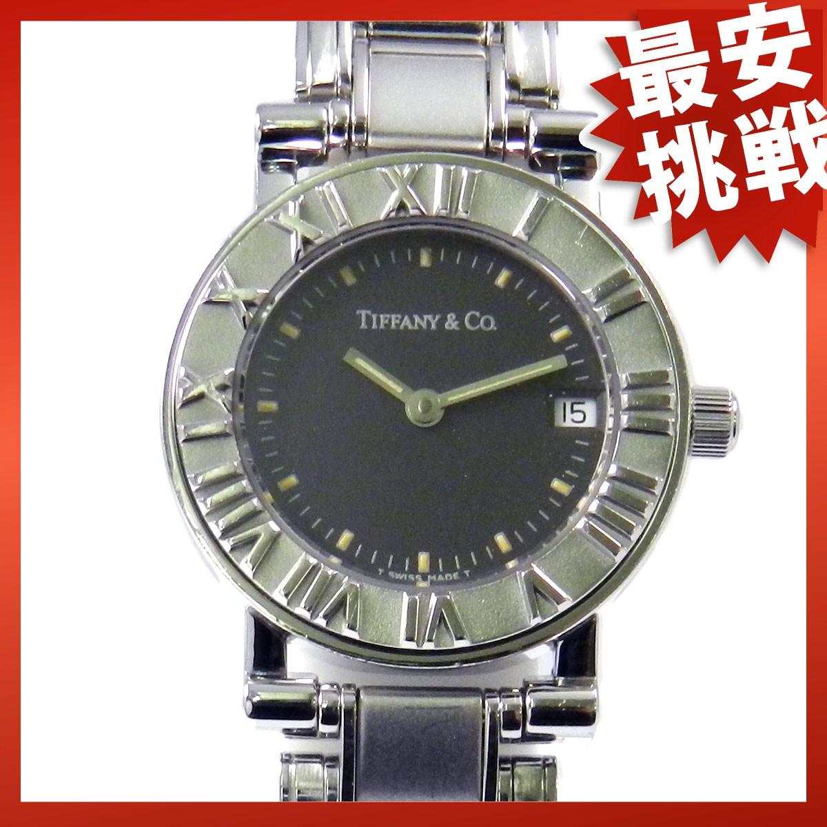 It is an atlas gray SS clock TIFFANY & Co