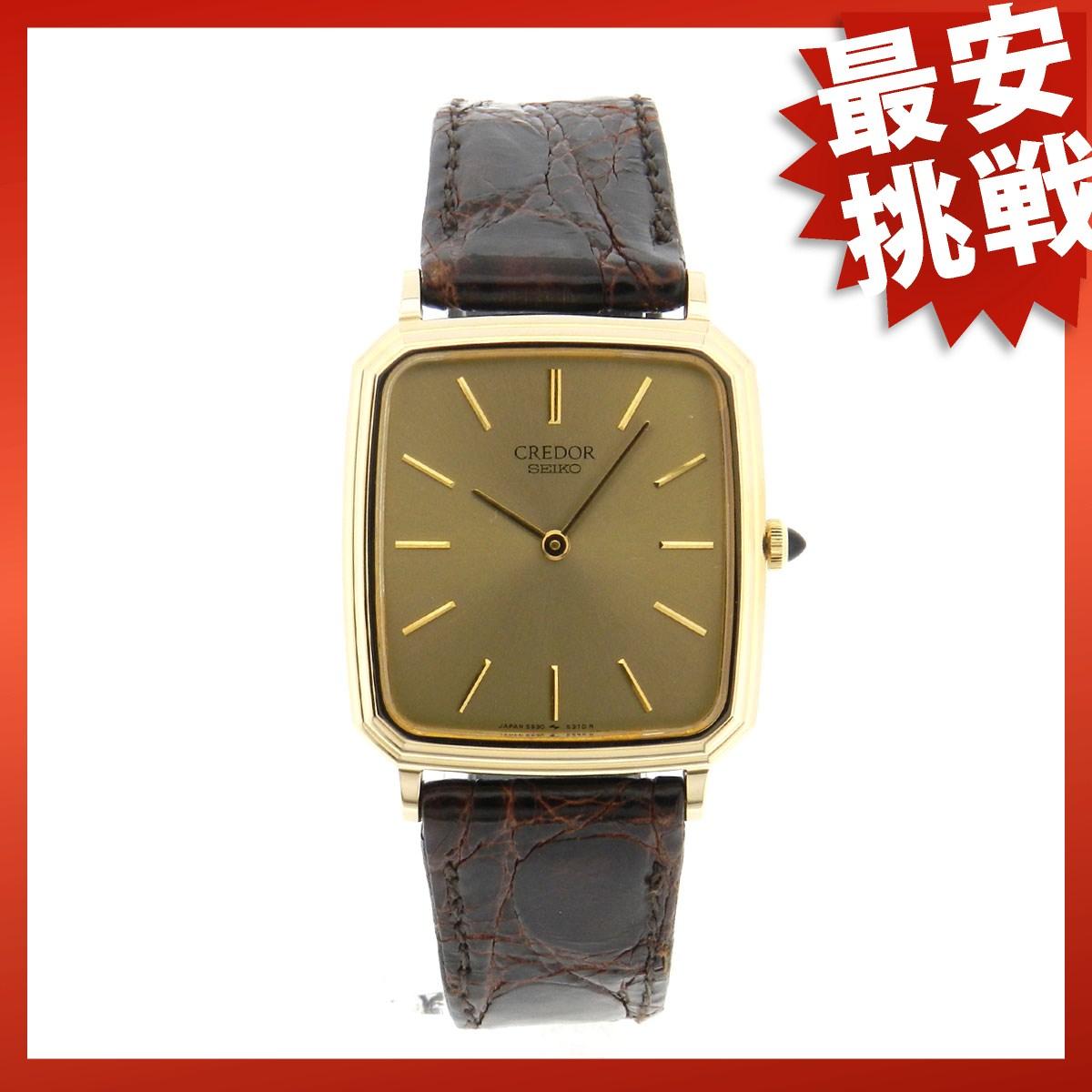 SEIKOクレドール5930-5350手表K14/皮革人的