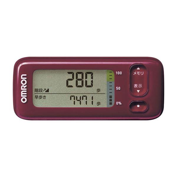 安全 階段上りや早歩きの消費カロリーもしっかりチェック スマートフォンで日々の活動量の変化をかんたんにグラフでチェックすることができます オムロン活動量計 HJA-405T-R レッド 人気ショップが最安値挑戦 代引不可