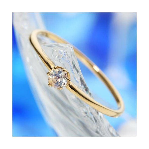 K18ブルームーンストーンリング 全品最安値に挑戦 指輪 誕生日 お祝い 13号