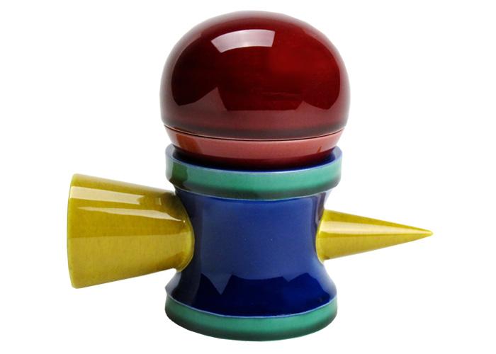 京焼・清水焼 けん玉の形をした遊び心満載の 交趾 ケン玉 香合・蓋置(受注生産品 納期一ヶ月)